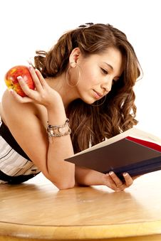 Free Holding Apple And Book Royalty Free Stock Photo - 19837245