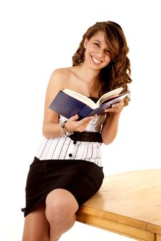 Free Get Caught With Book Laughing Stock Image - 19837391