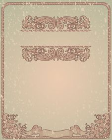 Free Vintage Green  Blank Stock Image - 19837471