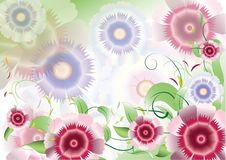 Free Color Purple Flowers Background Stock Images - 19837614