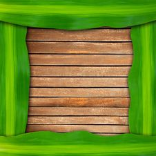 Free Green Leaves Frame Stock Photography - 19837872