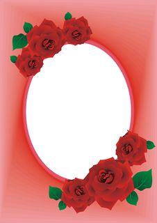 Free Frame Rose Red Royalty Free Stock Photo - 19838325
