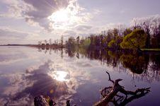 Free Evening Lake Landscape Stock Photography - 19838392