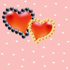 Free Pearl Hearts Stock Photo - 19838520