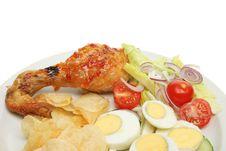 Free Chicken Egg Salad Royalty Free Stock Photo - 19838525
