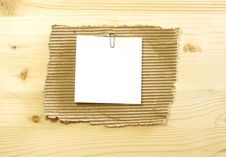 Free White Blank On Ripped Cardboard On Wooden Royalty Free Stock Image - 19838746