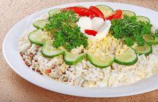 Salad With Eggs 3 Stock Photo