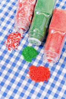 Colored Cake Sprinkles Stock Image