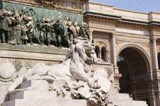 Free Piazza Del Duomo In Milan Stock Photos - 19839713