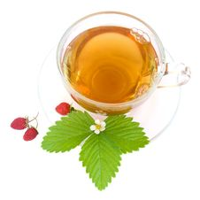 Free Tea And Wild Strawberries Royalty Free Stock Image - 19839846