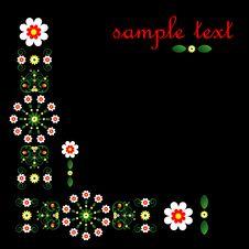 Free Decorative Framework With Flower Stock Image - 19839951