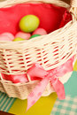 Free Easter Eggs In Basket Stock Images - 19840514