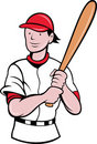 Free Baseball Player Batting Cartoon Stock Photography - 19842812
