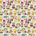 Free Summer Animal Seamless Pattern Stock Image - 19844061