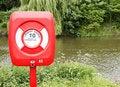 Free Lifebuoy Near River Stock Image - 19845981