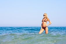 Free Beautiful Woman In Sea Royalty Free Stock Image - 19840476