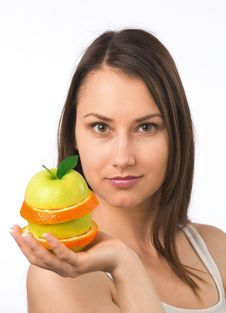 Free Young Woman With Fresh Fruit Royalty Free Stock Image - 19841006