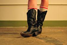 Free Coyboy Boots And Ski Socks Stock Image - 19841941