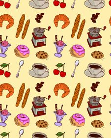 Free Cafe Food Pattern Stock Image - 19842131