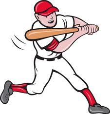 Free Baseball Player Batting Cartoon Royalty Free Stock Images - 19842819