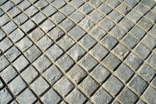 Free Checkered Stone Pavement Royalty Free Stock Photo - 19842845