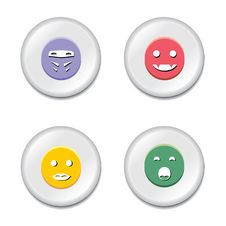 Smiley Badge Set Stock Photos
