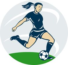 Free Woman Girl Playing Soccer Stock Photo - 19843060