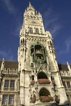 Free Town Hall At The Marienplatz In Munich Stock Photo - 19843350