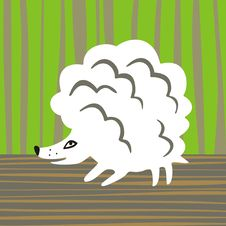 Lamb-hedgehog Royalty Free Stock Image
