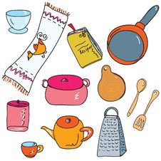Free Set Of Kitchen Accesories Royalty Free Stock Images - 19844179