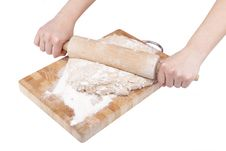 Free Rolling Dough For Bread Stock Photo - 19844370