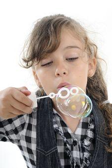 Free White Girl Creating Bubbles Stock Photos - 19844453