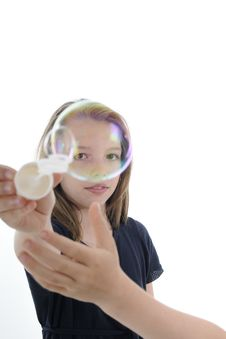 Free Transparent Bubble And Smiling Human Face Royalty Free Stock Photos - 19844568