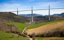 Free Rural View Of Millau Bridge Valley Stock Image - 19844571