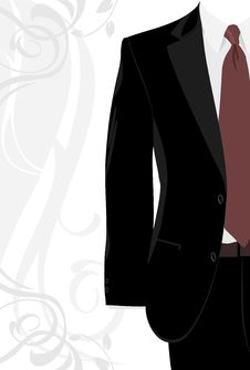 Free Masculine Suit On The Decorative Background Royalty Free Stock Photography - 19844837