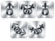 Free Gender Icons Royalty Free Stock Image - 19845516