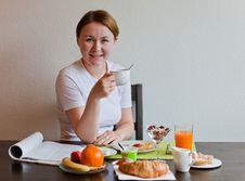 Free Woman Drinking Cofee Stock Photo - 19845520
