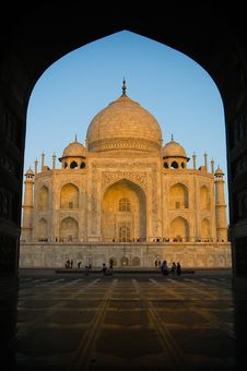 Sunset At Taj Mahal Royalty Free Stock Images