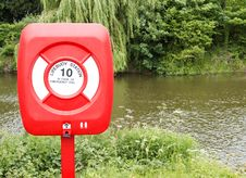 Free Lifebuoy Near River Stock Image - 19845981