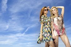 Free Two Beautiful Girl In Sunglasses Stock Photos - 19845993