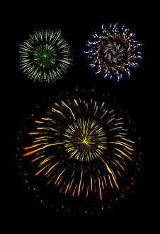 Free Brightly Colorful Vector Fireworks And Salute Stock Photos - 19846033