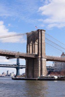 Brooklyn Bridge In New York City Stock Image