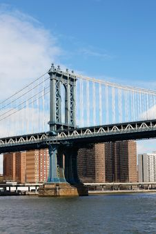 Free Manhattan Bridge In New York City Royalty Free Stock Image - 19846826