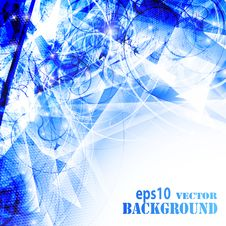 Free Abstract Modern Blue Background Royalty Free Stock Image - 19847036