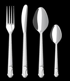 Free Fork Spoon And Knife Isolated On White Background Royalty Free Stock Photo - 19847465