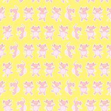 Dancing Elephants Pattern Stock Photo