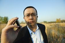 Free Man Holding A Cellphone Stock Photos - 19848353