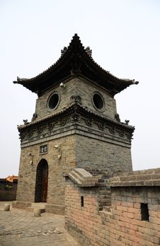 Free Typical Chinese Architecture, Watchtower Royalty Free Stock Images - 19848649
