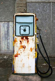 Old Fashioned Village Gasoline/petrol Pump Royalty Free Stock Images