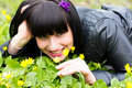 Free Woman Sniffing Flowers Stock Photo - 19852600